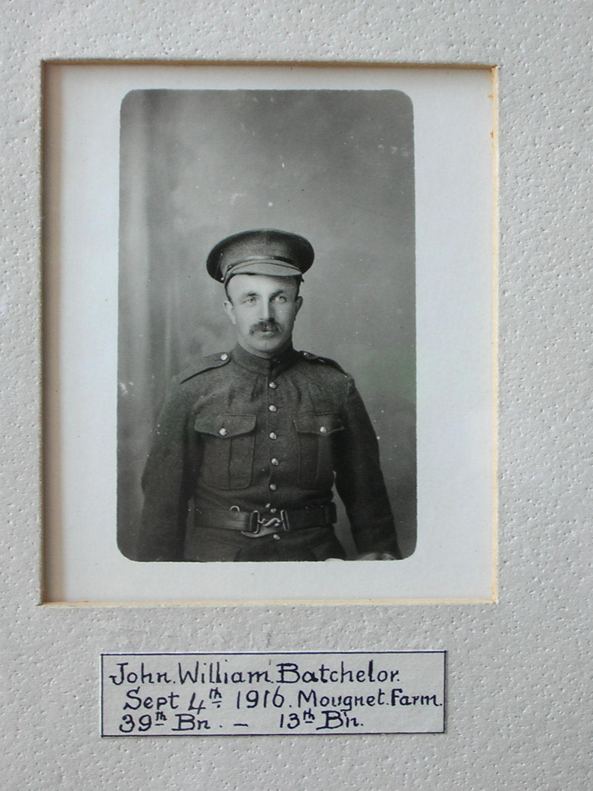 John Batchleor: killed at the Somme 19 Sep 1916