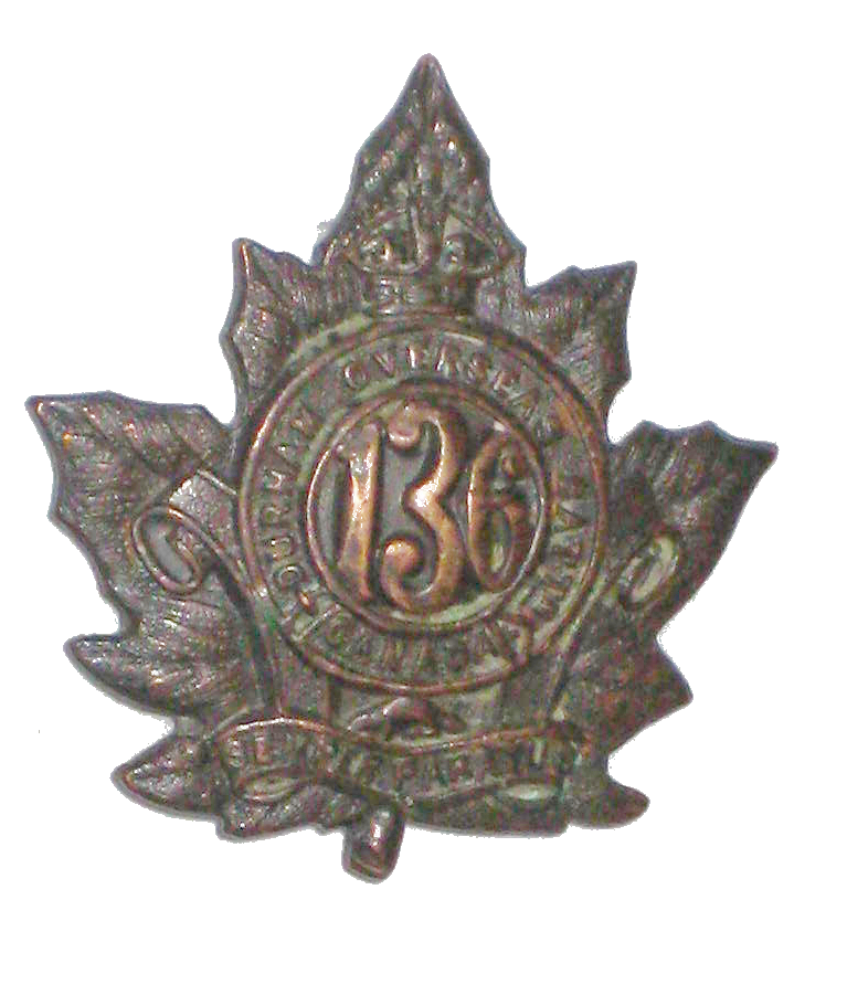 136th Battalion badge