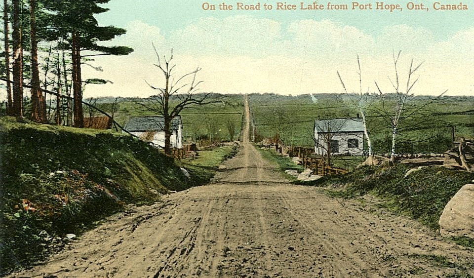 County Road 28 north from Port Hope at Dale Road,circa 1920