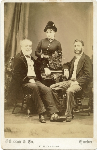 Photograph of Louis with Ida and Henry