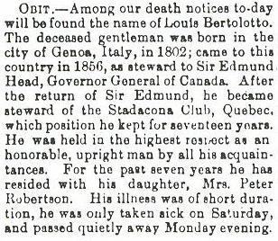 Port Hope newspaper obituary