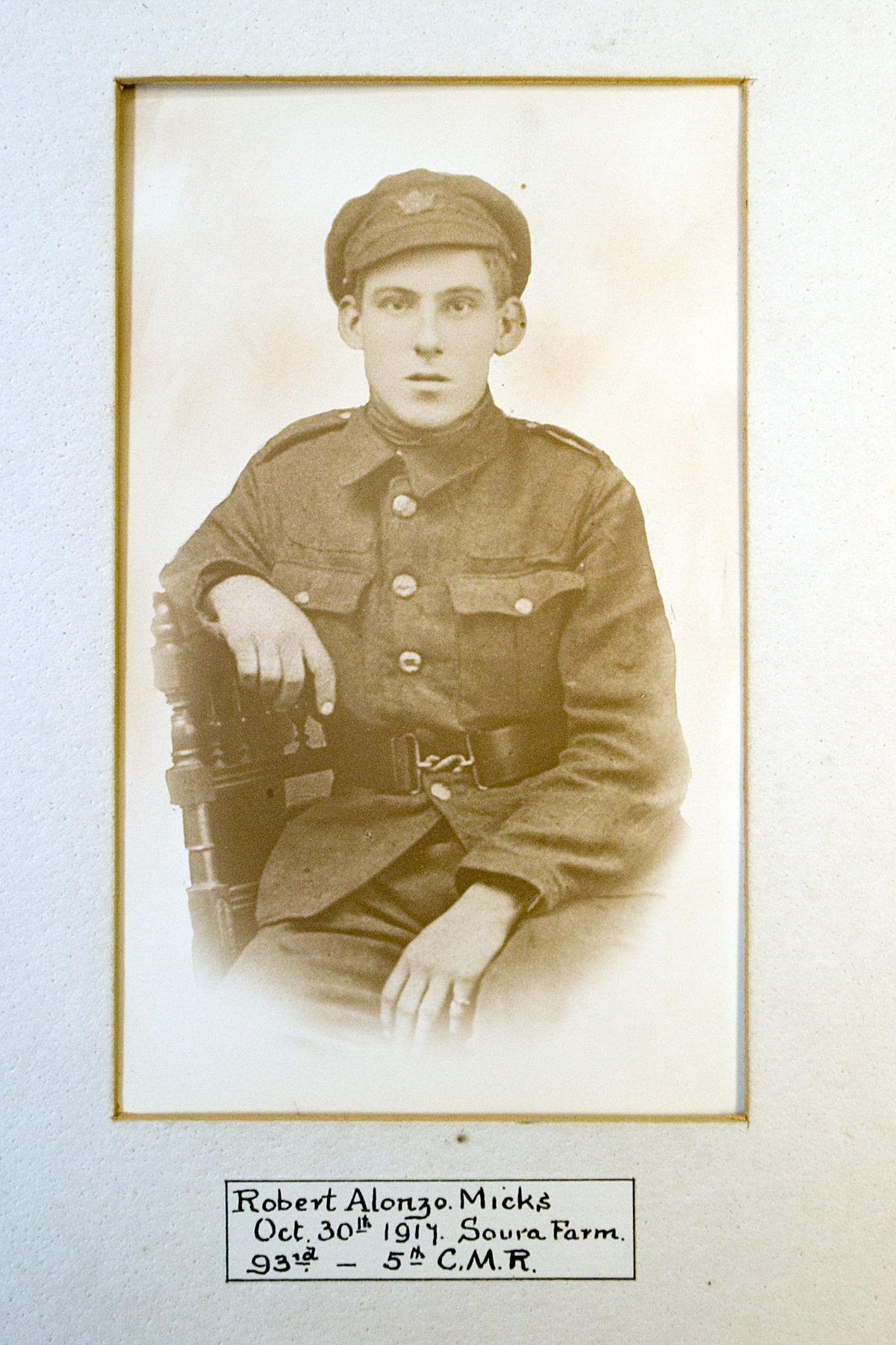 Robert Micks: killed at Passchendaele 30/31 October 1917