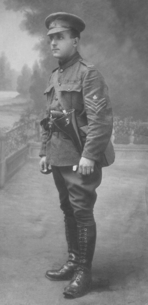 Captain Lawrence Robb Batchelor in France, shown here as a Sergeant (c1916)